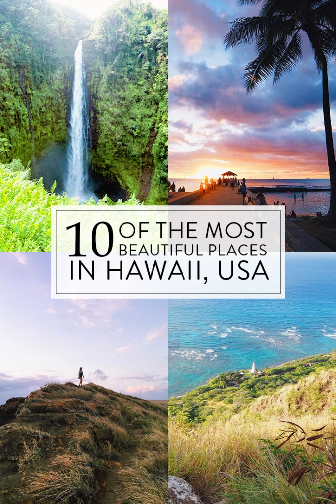 4 images of beautiful sights in Hawaii