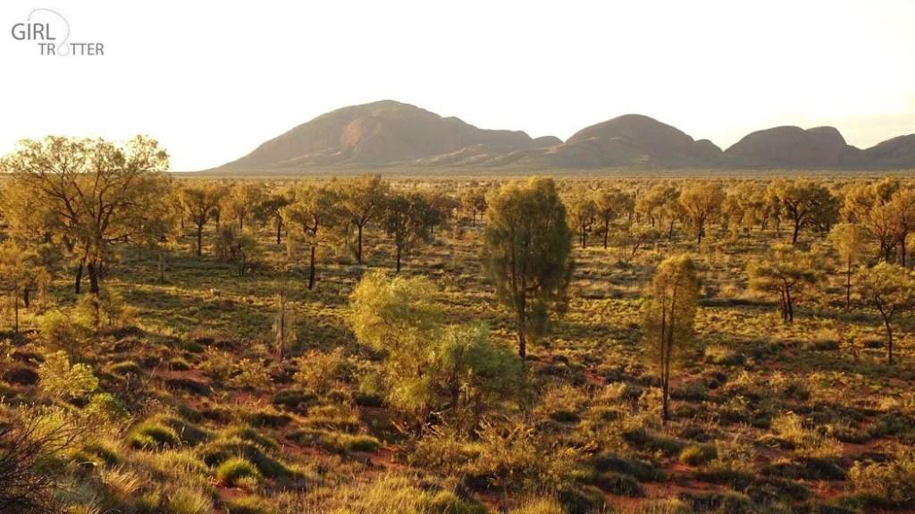 Coucher de soleil sur les Monts Olga Kata-Tjuta - Australie - Girltrotter
