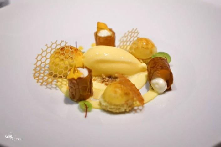 Dessert de repas gastronomique au restaurant les Glycines aux Eyzies de Tayac Sireuil