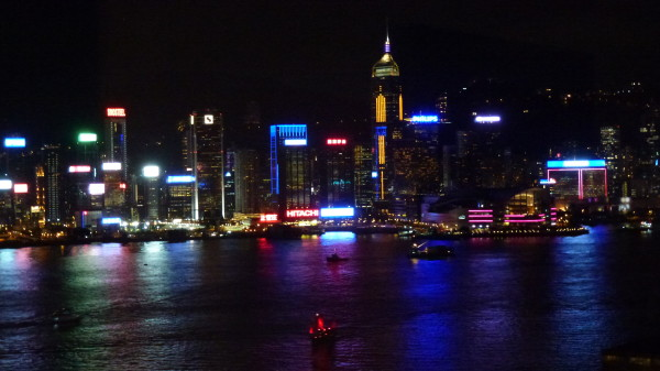 Hong Kong Harbour as seen from Hotel Icon
