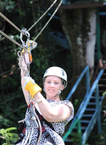 Zip-lining in Antigua