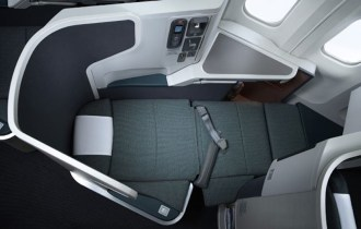 Cathay Pacific business class flat bed