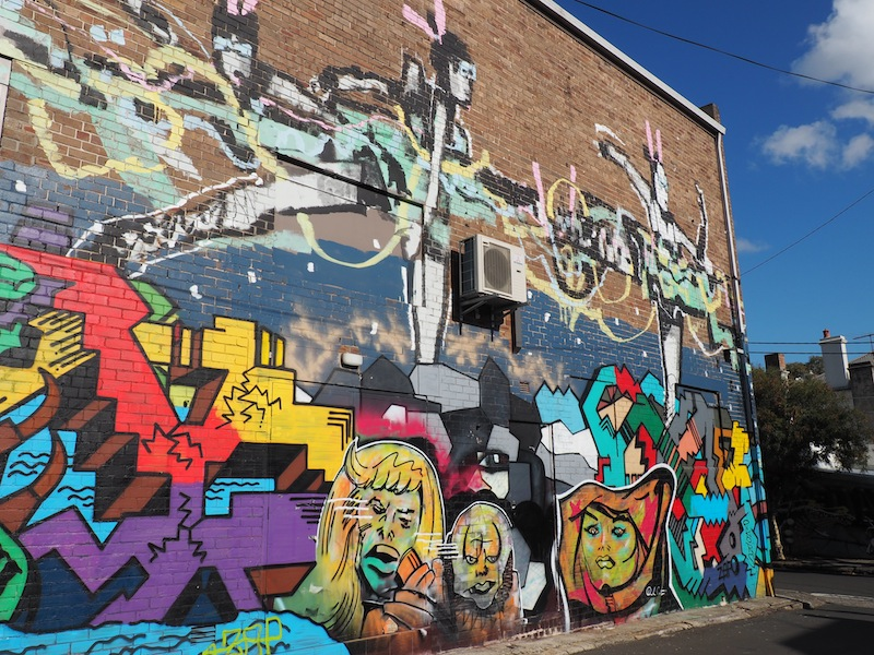 Newtown is famous for its colourful & eclectic street art