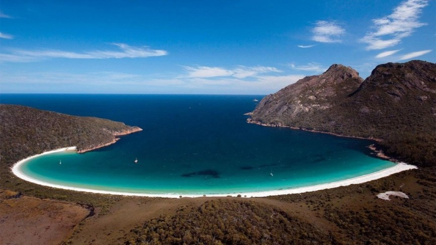 Who wouldn't want a sip of this? Wineglass Bay Tasmania