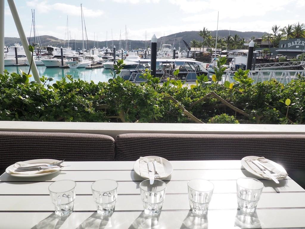 Waterfront dining at the Marina