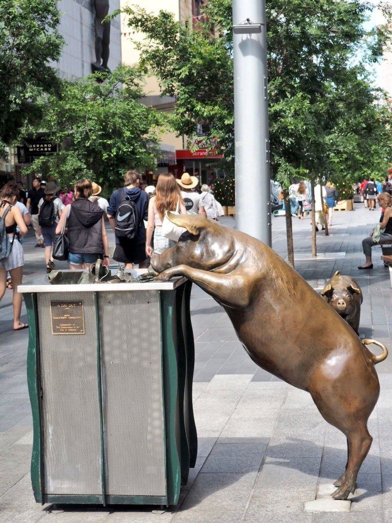 This made me do a double take - sculpture on Rundle Mall