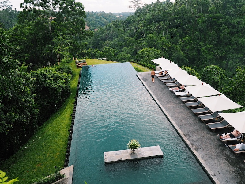 Picture perfect infinity pool at Alila Ubud