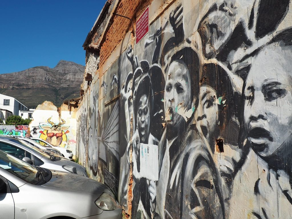 Street art in Woodstock Cape Town by Freddy Sam