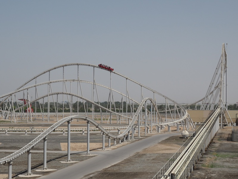 Fastest roillercoaster in the world at Ferrari World Abu Dhabi