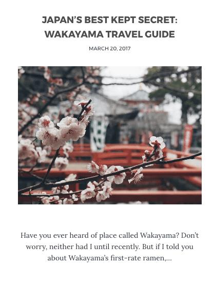 Visit Wakayama Blog Trip
