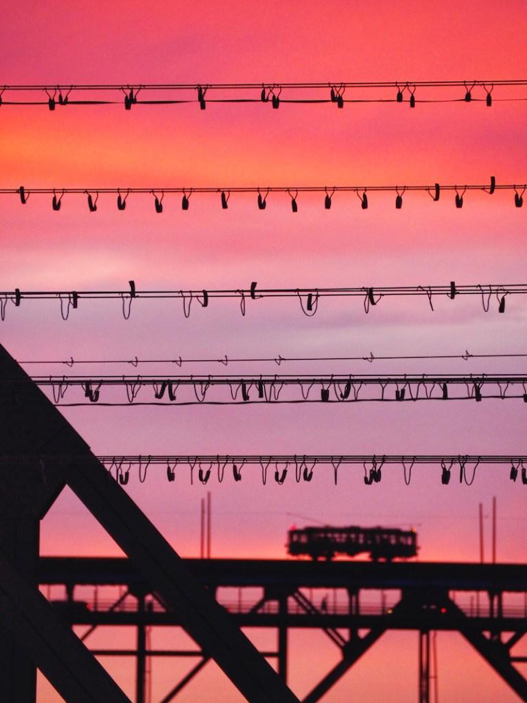 High Level Bridge at sunset