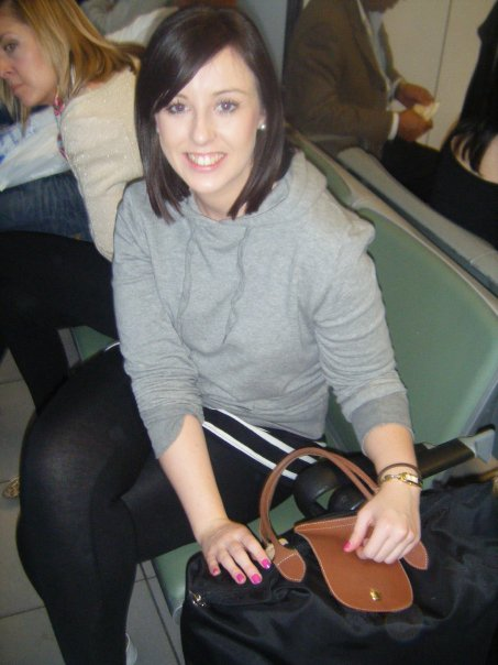 Busted: the one time I travelled in a hoodie in 2010. I was trying to be a backpacker. Think the pink nails and pearls might have given me away!