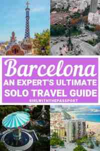 Planning some solo Barcelona travel and have no idea where to go or what to do? Then read on to discover what to do by yourself in Barcelona, including some amazing things to do alone in Barcelona at night, and where to eat when you travel to Barcelona by yourself. I promise, with all the things to do in Barcelona, you'll have the time of your life. #Barcelona #travelguide #Spaintravel #solotravel #Barcelonatravel