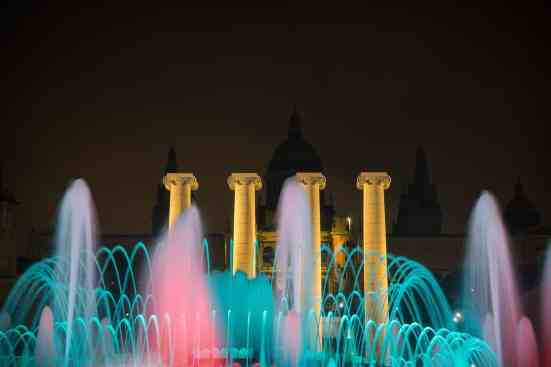 A beautiful and totally free, Montjuic Fountain show.