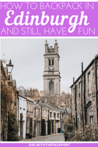 Backpacking Edinburgh and looking for some Edinburgh, Scotland things to do that won't break the bank? Then check out this guide to Backpacking in Edinburgh. Not only will you get secret budget Edinburgh travel tips, but you'll also discover the best Edinburgh backpackers hostels, and learn about some of the best cheap eats in Edinburgh Scotland. #Edinburghtravel #Edinburghguide #Budgettravel #Backpackers #EdinburghTravelTips