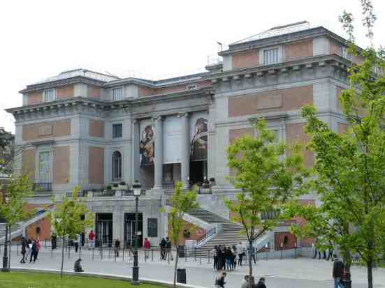 El Prado, the most famous museum in Madrid.