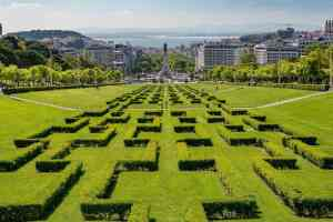 The view from Parque Eduardo VII is one of my favorite views in all of Lisbon.