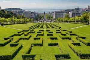 The beautiful view of Lisbon from Parque Eduardo VII.