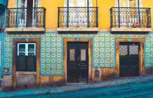 The tile work in Lisbon is gorgeous but not very fun to walk on in the rain.