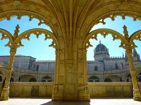 The cloisters in Mosteiro dos Jerónimos are an amazing place to sit and relax.