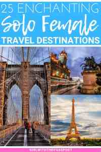 Expert female travel bloggers reveal their picks for the 25 best solo female travel destinations in the world. These cities are not only fun but safe cities for solo female travelers. So check it out and see if your favorite city made the list. #solotravel #traveldestinations #travelideas #solofemaletravel #solotraveltips