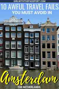 Planning some Amsterdam travel? Great because there are a ton of Amsterdam things to do. Between the Anne Frank Museum, scenic canal cruises, the diverse assortment of Amsterdam food, I promise that you won't get bored. But before you book your trip, check out these ten Amsterdam travel tricks and tips so that you can plan the Amsterdam vacation of your dreams. #Amsterdam #Europe #travel #Wanderlust #theNetherlands