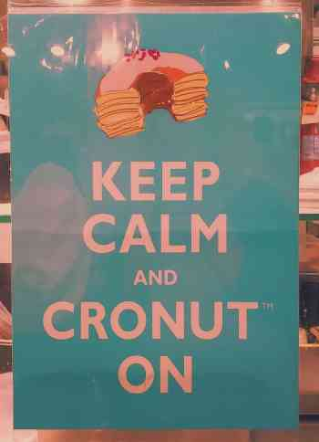Be sure to stop by Dominique Ansel Bakery and try out the cronut flavor of the month.