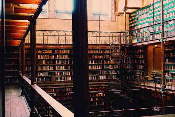 Libraries like the one at Rijksmuseum always transport me to my happy place.
