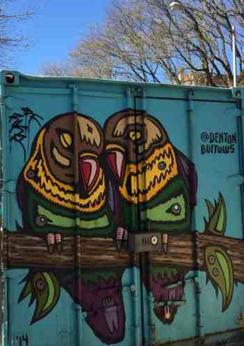 You know what they say? Birds of a feather flock together...towards the best street art in New York City.