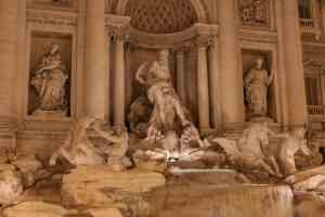 The infamous and insanely beautiful Trevi Fountain in Rome.