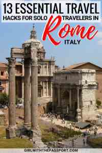 Between the Vatican, the Catacombs, the Capuchin Crypts, and the exquisite food markets, there are plenty of Rome things to do for the solo traveler. All you need to do is spend time enjoying some Rome Italy food amidst the many vibrant piazzas of the city, and trust me you'll never feel lonely again. #Rome #Italy #Europe #Wanderlust #travel