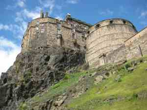 An up close and personal view of the iconic, Edinburgh Castle.