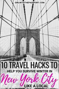 Between New York City food and New York City things to do, winter is one of my favorite seasons to explore the big apple. But when you're from out of town, it can be easy to make some pretty common New York City travel mistakes. To avoid any New York City travel fails, I created this essential list of local travel hacks and tips when visiting New York. #NYC #NewYorkCity #USA #winter #travel
