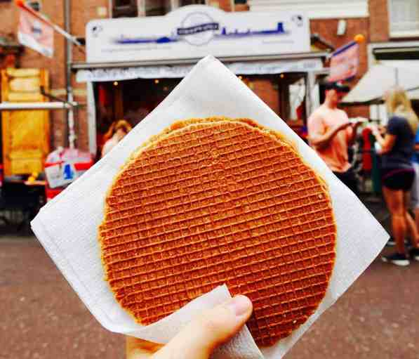Now, this is what a fresh Stroopwafel is supposed to look like in Amsterdam.