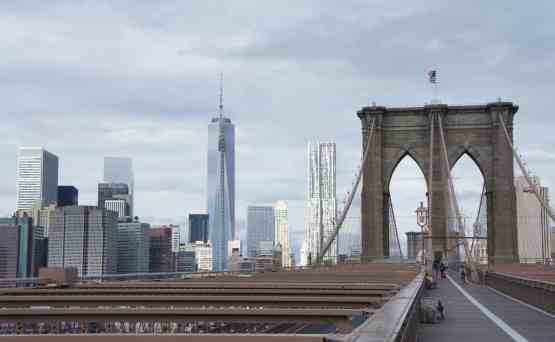 What can I say? The beauty of the Brooklyn Bridge puts me in a New York State of Mind.