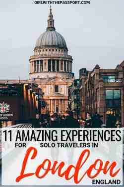 Planning some solo London travel and have no idea where to go or what to do? Then read on to discover what to do by yourself in London, including some amazing things to do alone in London at night, and where to eat when you travel to London by yourself. I promise, with all the things to do in London, you'll have the time of your life. #London #UK #travel #solotravel #Europe