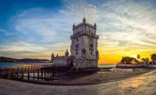 Enjoy the majestic beauty of Belem Tower.