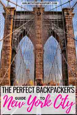 Backpacking NYC but not sure how to do New York City travel on a budget? Then read some of these amazing local tips and tricks. This post will teach you how to find budget NYC accommodations, as well as how to find the best budget New York City restaurants. You'll also find an exciting list of New York City things to do that are totally free! #budgettravel #NYC #USA #travel #backpacker