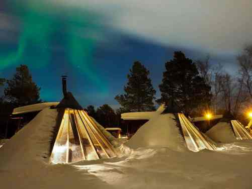 A view of the Holmen Husky Lodge in Alta, Norway.