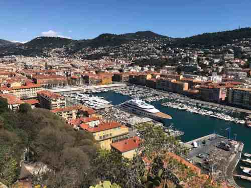 A beautiful view of Nice, France.