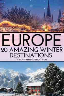 Looking for the perfect winter destination in Europe to add to your winter in Europe travel itinerary? Then check out these 20 amazing cities in Europe. From scenic winter landscapes in Scandinavia to skiing and winter sports in Switzerland, to winter sun destinations in Europe like Malta to budget destinations in Eastern Europe, this list has it all. #europewinterdestinations #holidaysineurope #skiingineurope #warmwinterdestinationsineurope #northernlights #christmasmarkets