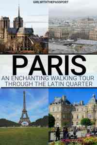 Check out this Paris travel guide filled with Paris travel tips that will help you explore the beautiful neighborhood of the Latin Quarter. Go on this free walking tour of Paris and explore such iconic Paris attractions as Shakespeare and Company, Jardin du Luxembourg, the Pantheon, and more. A fantastic Paris neighborhood that is truly worth a visit. #Paristravel #Paristips #TravelGuide #ParisFrance #TravelFranc