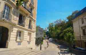 The magnificent view of Sacré-Cœur from Place Dalida.