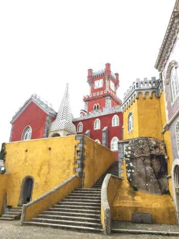 One of the many beautiful palaces that you'll find in Sintra, Portugal.