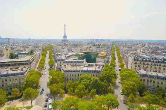 It's worth going to the top of the Arc de Triomphe for this view.