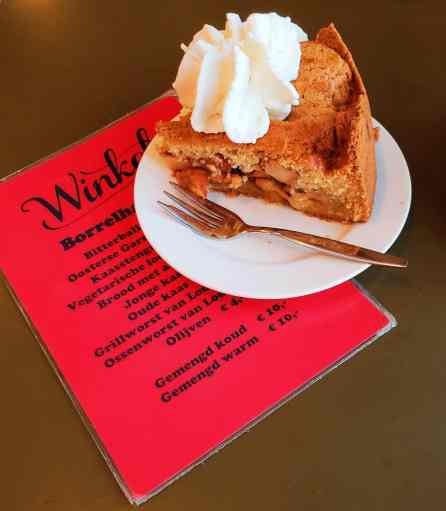 The best thing about Amsterdam solo travel? You don't have to share your delicious apple pie from Winkle 43!