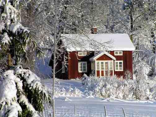 Some of the winter charm you'll find in Jukkasjärvi, Sweden