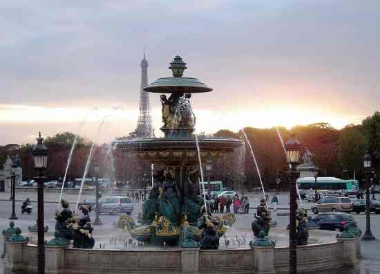 The beautiful Place de la Concorde.