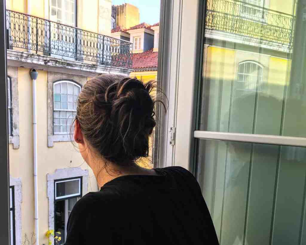 Looking out at Lisbon from Hotel Lis - Baixa. One of the best places to stay in Lisbon.