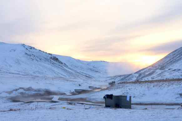 The beautiful solitude of the Reykjadalur Hot Springs.